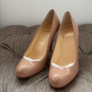 christian louboutin simple pump 100 patent calf